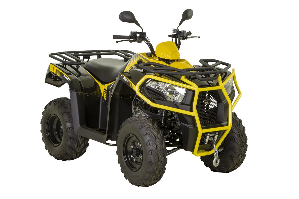 MXU 300, en amarillo/negro, será el primer ATV KYMCO que llegará a España en abril. KYMCO España